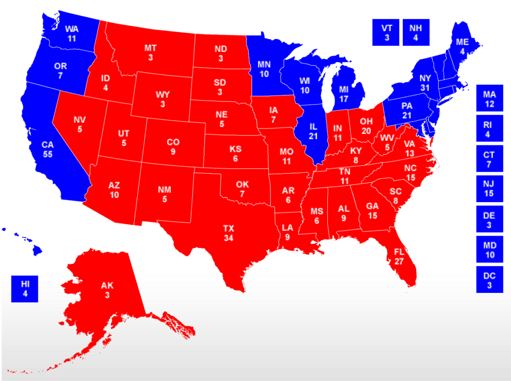 Final Electoral College Map Business Insider How America Elects