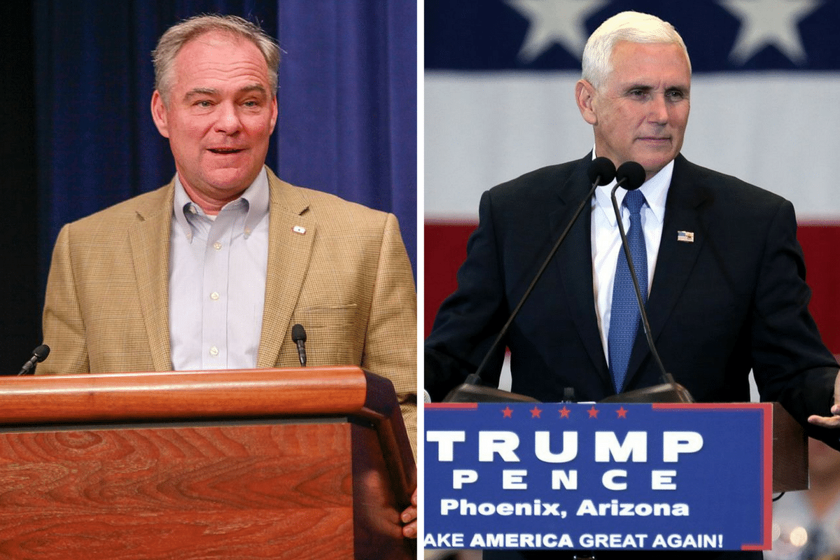 Tim Kaine (Photo credit: US Dept. of Ed) and Mike Pence (Photo credit: Gage Skidmore)