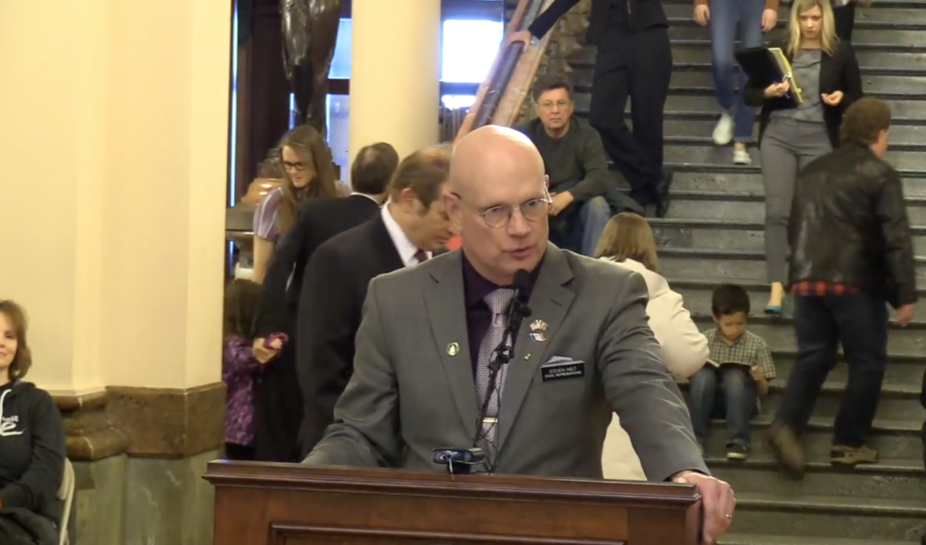 State Representative Steven Holt (R-Denison) spoke at the pro-life rally on March 30, 2017.