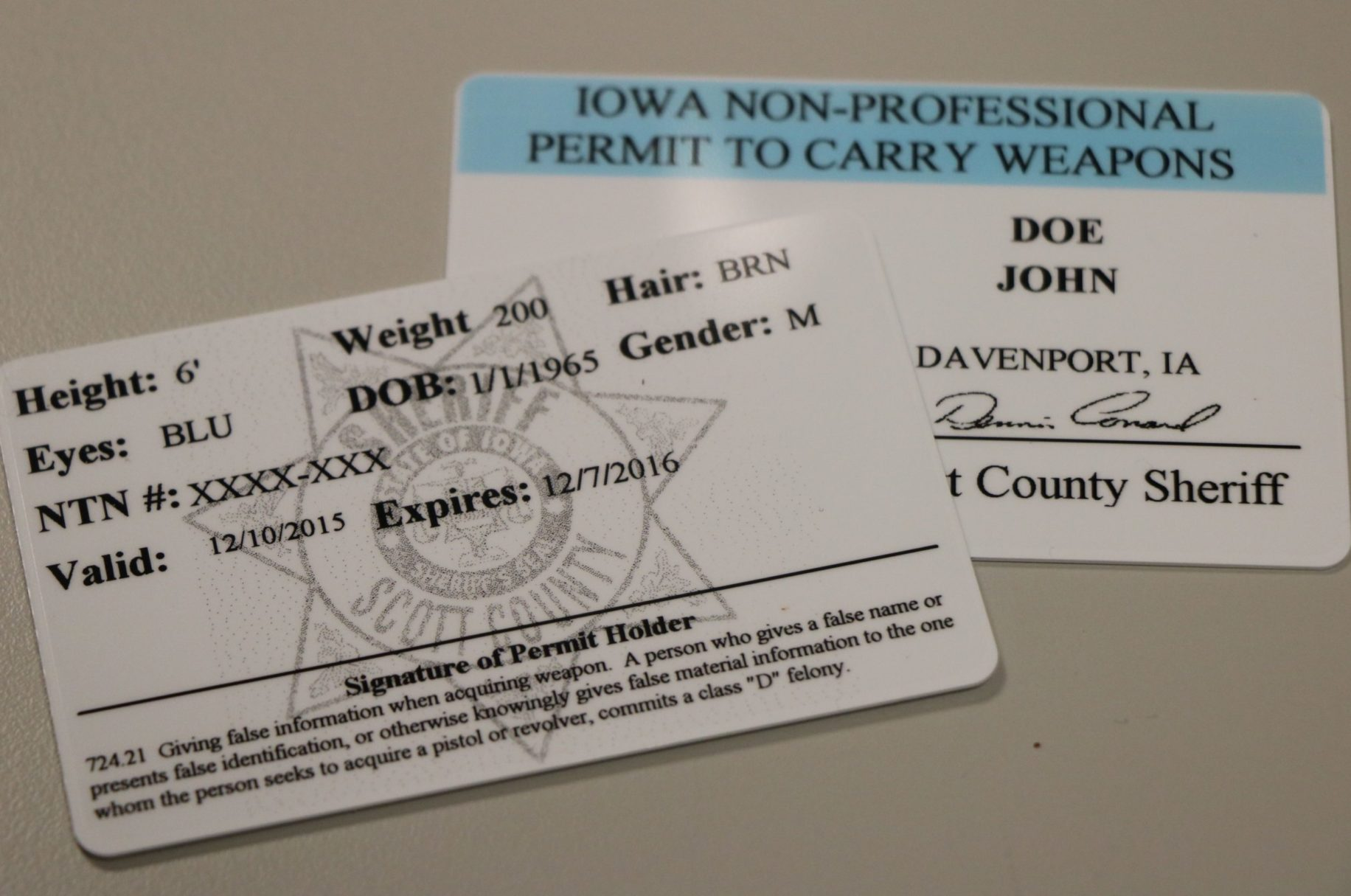 What does a concealed carry permit look like 10